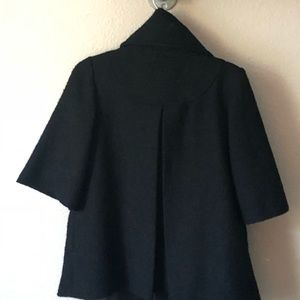 Black Coat with bell shape sleeves